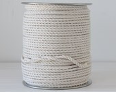 Cotton rope macrame 5mm 3 strand unbleached cotton - 100 feets or 500 feets reel - 166 yard