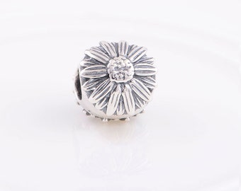 Sunflower Charm, 925 Sterling Silver