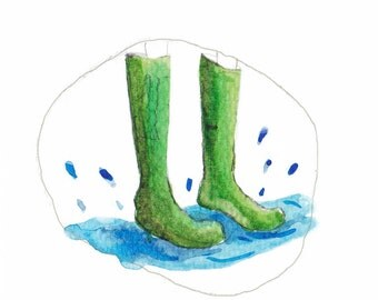 Wellies and puddles