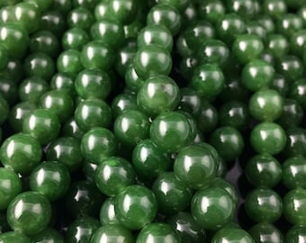 "A Grade 10mm, 100% Natural Canadian Nephrite Jade Beads - 10percent off - Promo Code ""SUMMER17"""