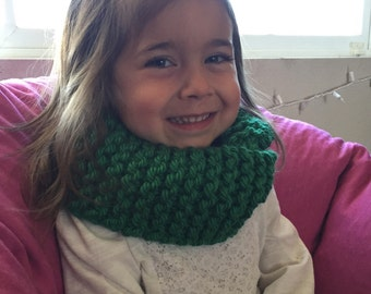 Handmade Green Toddler Infinity Scarf