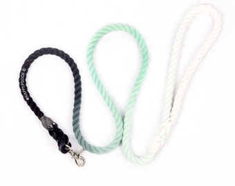 3 Coloured Ombre Dog leash, Puppy Leash, Rope Dog Leash, Ombre Rope Leash
