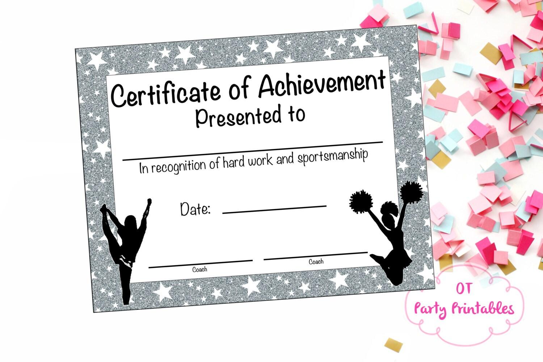 cheerleading certificate cheerleading award cheerleading 🔎zoom