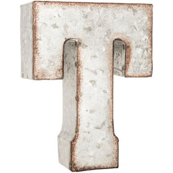 Galvanized Letter U Galvanized Metal Letter T Or U Or Vmetal Letter7 Inch