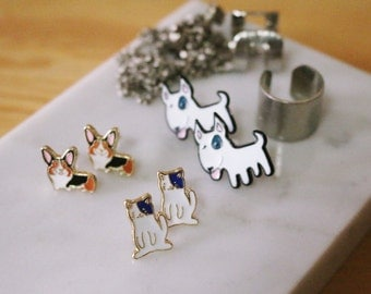 Dog and Cat stud earrings