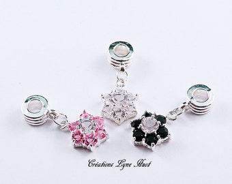 A choice ! Star Charm set with Rhinestones, the price is for one Charm, 3 colors available