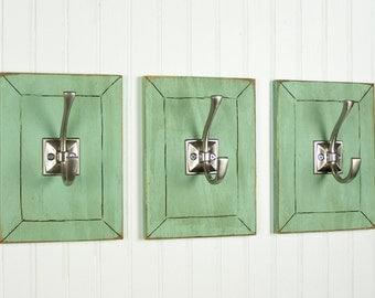 Decorative Wall Hooks Entryway Coat Hooks Shabby Chic Wall Hooks French Country Cottage Decor Kitchen Hooks Towel Hooks Bathroom Hooks (3)