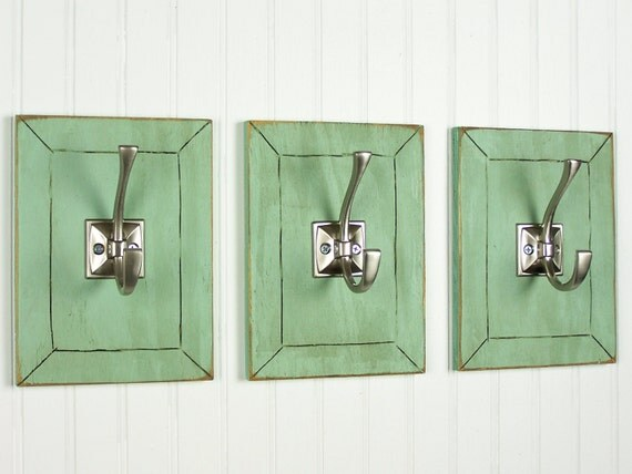 Decorative wall hooks entryway coat hooks shabby chic wall for Unique coat hangers