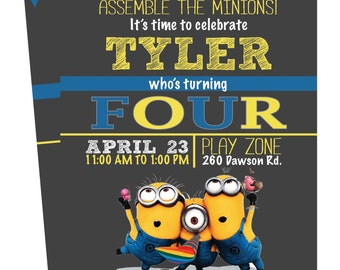 Minion Birthday Invitation / Printable Invitation / Birthday Invitation