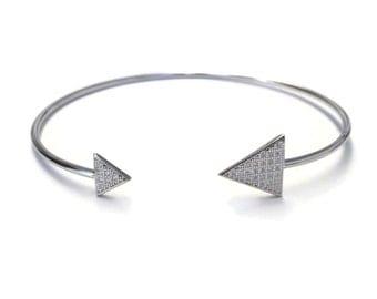 Diamond triangle cuff