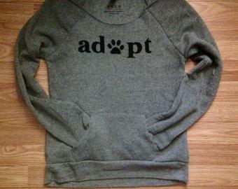 Adopt  Off the Shoulder Eco Fleece Sweatshirt  Adopt / Adopt Don't Shop