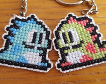 Bubble bobble cross stitch charms