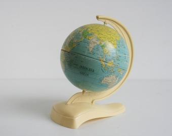 World Globe MS Germany 50s sphere mid century plastics tin airlines antique