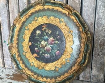 Vintage Italian Hand Painted Tray