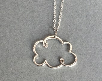 Sterling Silver Cloud Necklace Mom sister friend jewerly gift