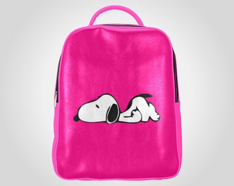 Snoopy Hot Pink Multi-pocket Backpack Large