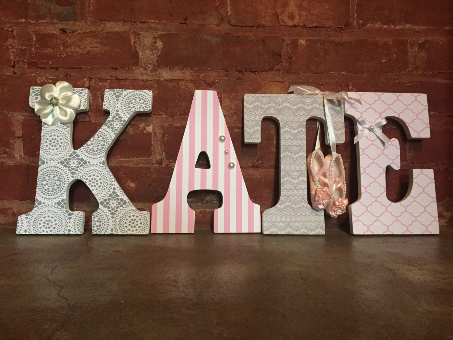 Custom Decorative Wooden Letters Wooden Name Girls Room