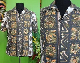 Hawaiian Shirt..... Classic Ui-Maikai Tiki Print Hawaiian Shirt
