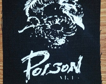 poison arts silk screen cloth patch jap punk crust grind core confuse lip cream