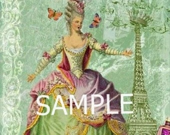 Fabric Art Quilt Block - Marie Antoinette - 13-001 FREE Shipping