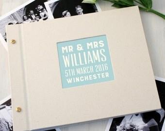 Personalised Typographic Wedding Photo Album