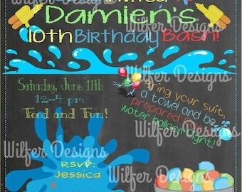 Water Fun Birthday Invitation