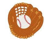 Baseball Glove Machine Embroidery Design 012914 Filled Stitch 4X4 5X7 8X8 6X10 Instant download