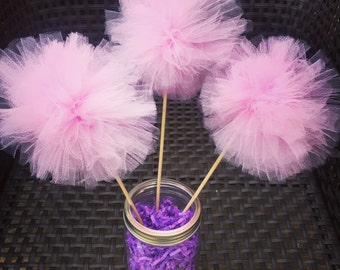 Tulle Pom Poms - Tulle Pom Pom Centerpieces - 1st Birthday Party Decorations