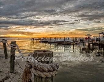 Boats in Harbor at Sunset;  Dunedin, Florida