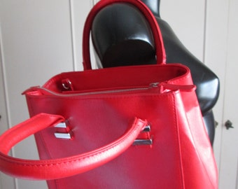 Orsay red faux leather purse