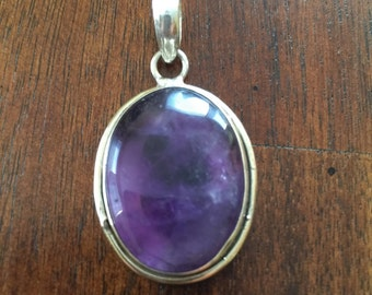 Amethyest pendent, with sterling silver 92.5%