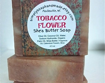 Tobacco Flower Soap,Shea Butter Soap,Floral Scent Soap,Soap with Clay,Fruity Scent Soap,Earthy Scent Soap
