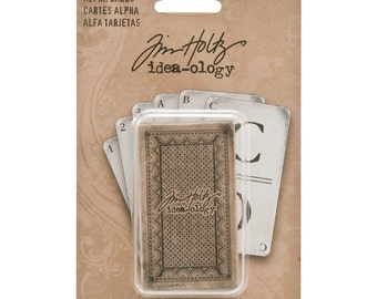 Tim Holtz Alpha Cards