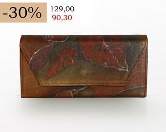 SALE - 30% Handbemaltes leather wallet