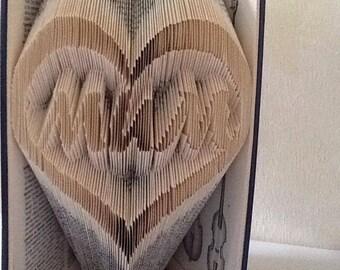 PATTERN #73 mum heart book folding pattern. 280 folds