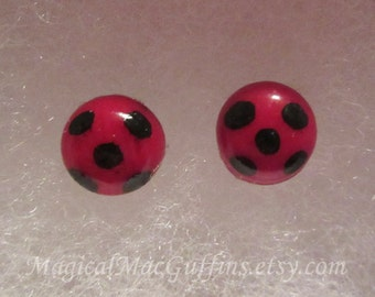 Magical Girl Miraculous Ladybug Red & Black Cosplay Earrings
