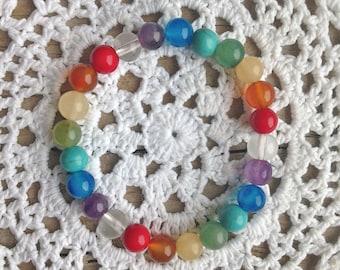 chakra bracelet , yoga jewelry, crystal healing bracelet , bohemian jewelry , yoga by the sea
