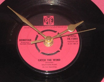 "Donovan catch the wind 7"" vinyl record clock"