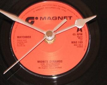 "Matchbox midnite dynamos  7"" vinyl record clock"