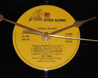 "Neil Young tonight's the night  12"" vinyl Lp / album  record clock"