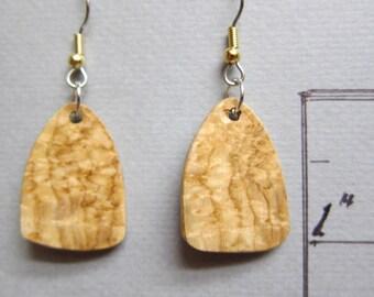 Unique Honey Locust Exotic Wood Drop Earrings ExoticWoodJewelryAnd Ecofriendly repurposed