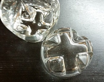 2 Double Shot Glasses X's on Bottoms