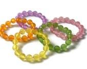 Children elastic bracelet, bracelet for child, frosted beads bracelet, beaded bracelet, gift idea, gift for child
