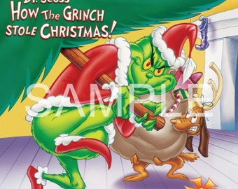 Fabric Block  *How the Grinch Stole Christmas*   15-332  FREE SHIPPING