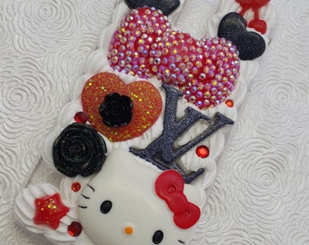 Kawaii fashionista decoden whipped cream bling cell phone case for Samsung Galaxy s5