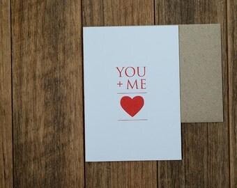 You + Me Heart (White)