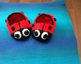 Animal character crochet slippers
