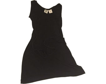 Black Mini Dress with Sash Tie (Small)