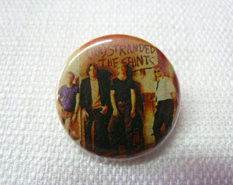 Vintage Late 80s The Saints - I'm Stranded Album Cover Pin / Button / Badge - Classic Australian Punk