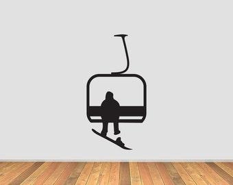 Snowboard Lift Single Viny Decal